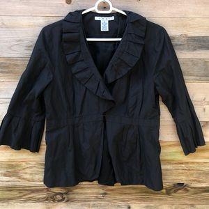 Cabi | Cosette Black Ruffle 3/4 Sleeve Jacket 6